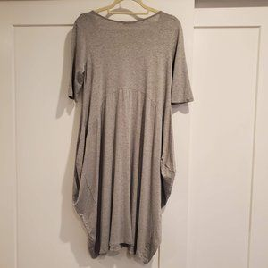 Matti Mamane, Tunic Lagenlook Dress, Gray